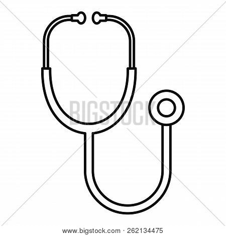 Stethoscope Icon. Outline Illustration Of Stethoscope Vector Icon For Web Design Isolated On White B