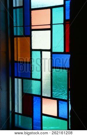 Stained Glass Window In Church In Hayfield Minnesota