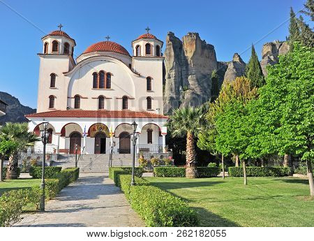 Orthodox Church In Kalampaka Town, Greece