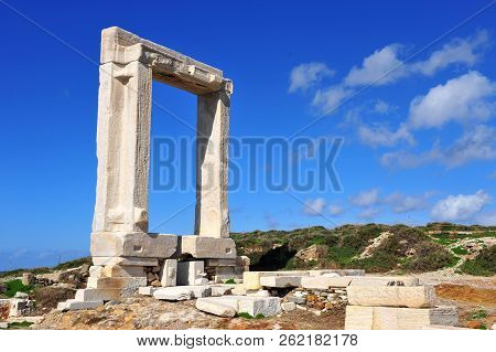 Ruins Of An Ancient Temple On Naxos Island