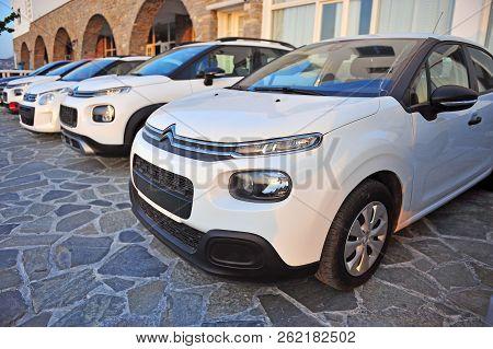 New Citroen Cars In The Street