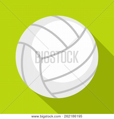 Ball For Playing Volleyball Icon. Flat Illustration Of Ball For Playing Volleyball Icon For Web Isol