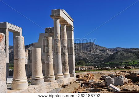 Ancient Temple Of Demeter On Naxos, Greece