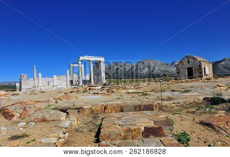 Columns Of Demeter Ancient Temple On Naxos