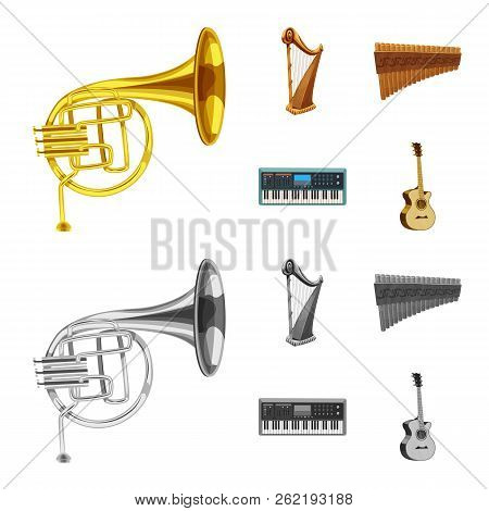 Vector Design Of Music And Tune Sign. Collection Of Music And Tool Stock Vector Illustration.