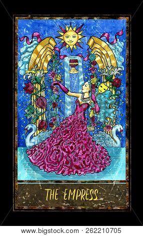 Empress. Major Arcana Tarot Card. The Magic Gate Deck. Fantasy Graphic Illustration With Occult Magi