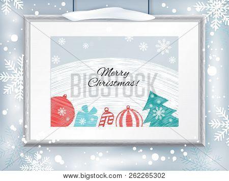 Christmas Certificate Border.Christmas Certificate Vector Photo Free Trial Bigstock