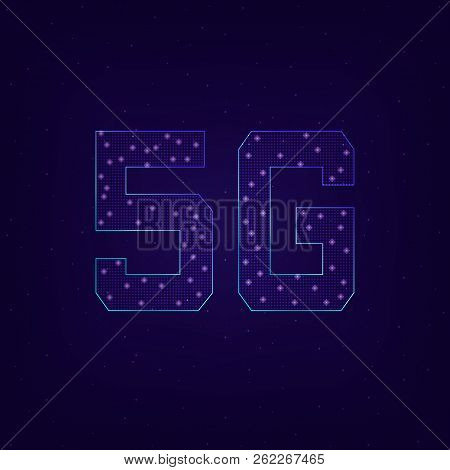 Fifth Generation Wireless 5g. Data Communication Rate Between Wireless Local Area Networks. Global N