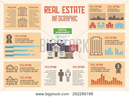 Real Estate Agency Concept. Broker Services. Advertising In Real Estate Business. Buying House, Real