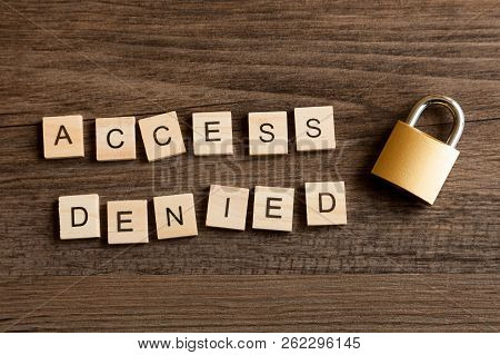 Words - Access Denied With A Locked Padlock