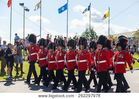 Changing Of The Guard Ceremony At Citadelle In Old Quebec
