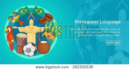 Brazil Banner Horizontal Concept. Cartoon Illustration Of Brazil Banner Horizontal For Web