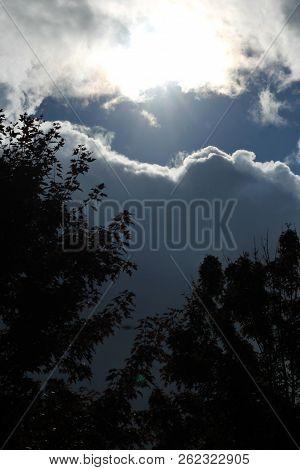 Sun Shining Through Rain Clouds That Looks Like Heaven