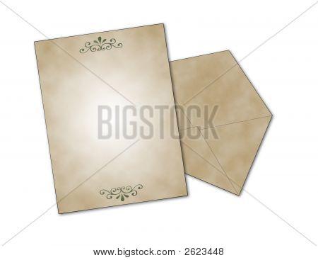 Elegant Card And Envelope