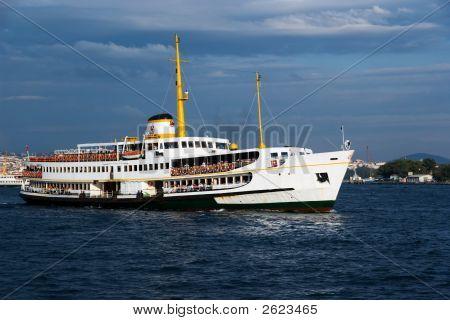 Ship In Bosphorus, Istanbul, Turkey