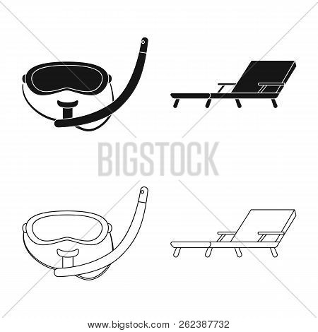 Isolated Object Of Pool And Swimming Logo. Set Of Pool And Activity Stock Vector Illustration.