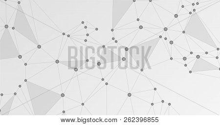 Global Network Connection Illustration. Interlinked Nodes, Molecular Or  Big Data Cloud Structure Co