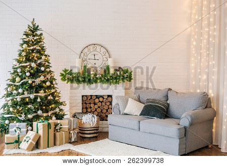 Christmas Decorations Garland Tree Home Interior