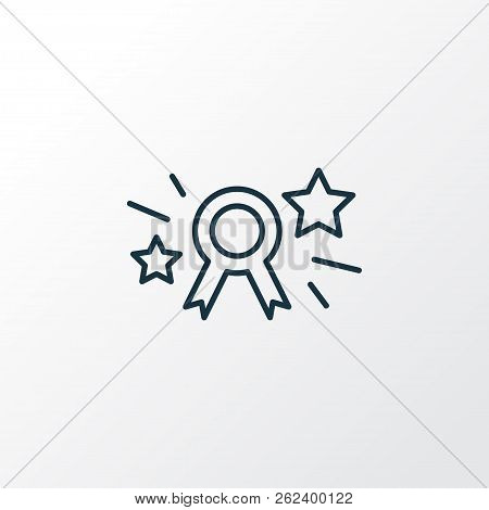 Page Rank Badge Icon Line Symbol. Premium Quality Isolated Award Element In Trendy Style.