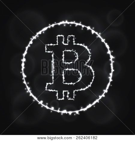Bitcoin Vector Icon. Bitcoin Symbol For Your Web Site Design, Internet, Graphic Interface, Business.