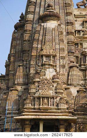Vishwanath Temple, Shikara, Western Group, Khajuraho, Madhya Pradesh, India Unesco World Heritage Si