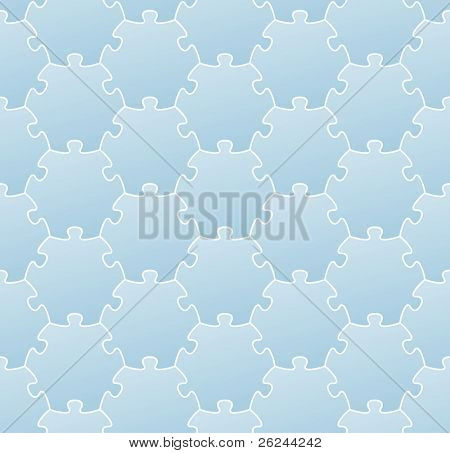 light blue jigsaw puzzle seamless background for web design