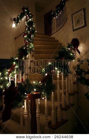 Festive stairway