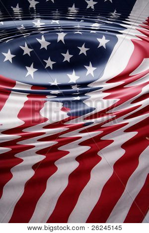 Rippled American flag