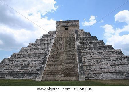 Stairway to heaven at Chichen Itza in Mexico