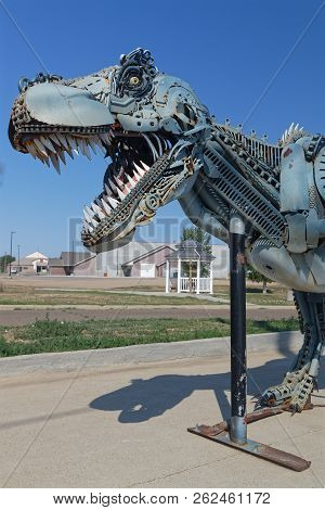 Faith, South Dakota, September 7, 2018 : The Town, Known As Home Of Sue, The Most Complete T-rex Eve