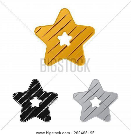 Vector Illustration Of Biscuit And Bake Logo. Collection Of Biscuit And Chocolate Stock Vector Illus