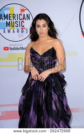Lauren Jauregui at the 2018 American Music Awards held at the Microsoft Theater in Los Angeles, USA on October 9, 2018.