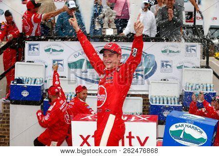 October 06, 2018 - Dover, Delaware, USA: Christopher Bell (20) wins the Bar Harbor 200 at Dover International Speedway in Dover, Delaware.