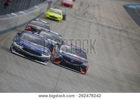 October 07, 2018 - Dover, Delaware, USA: BJ McLeod (51) battles for position during the Gander Outdoors 400 at Dover International Speedway in Dover, Delaware.