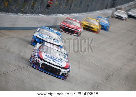 October 07, 2018 - Dover, Delaware, USA: AJ Allmendinger (47) battles for position during the Gander Outdoors 400 at Dover International Speedway in Dover, Delaware.