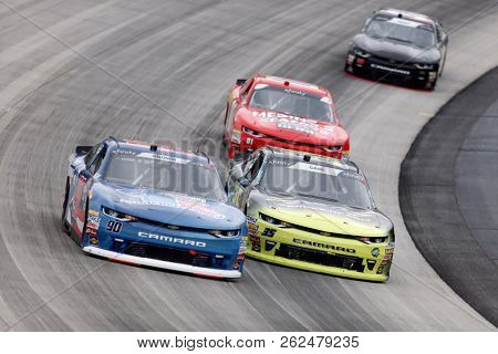 October 06, 2018 - Dover, Delaware, USA: Joey Gase (35)  races through the field at the Bar Harbor 200 at Dover International Speedway in Dover, Delaware.
