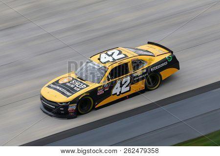 October 05, 2018 - Dover, Delaware, USA: John Hunter Nemechek (42) takes to the track to practice for the Bar Harbor 200 at Dover International Speedway in Dover, Delaware.