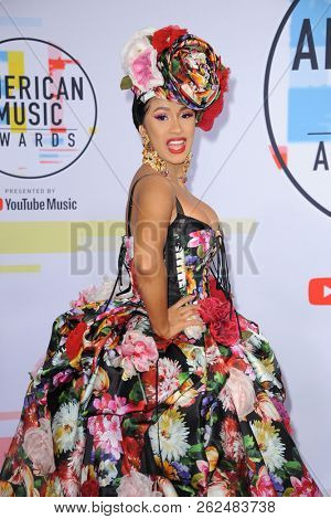 Cardi B at the 2018 American Music Awards held at the Microsoft Theater in Los Angeles, USA on October 9, 2018.