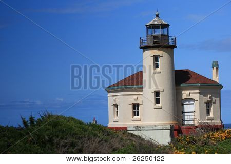 Historic Coquille River Lighthouse in Bandon, Oregon