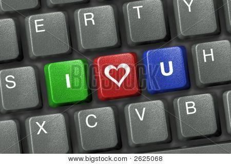 Pc Keyboard With Three Love Keys