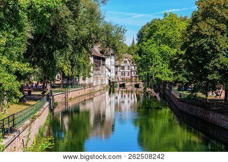 Canal Of River Ill In La Petite France In Strasbourg, France