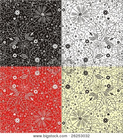 Vector abstract floral pattern.
