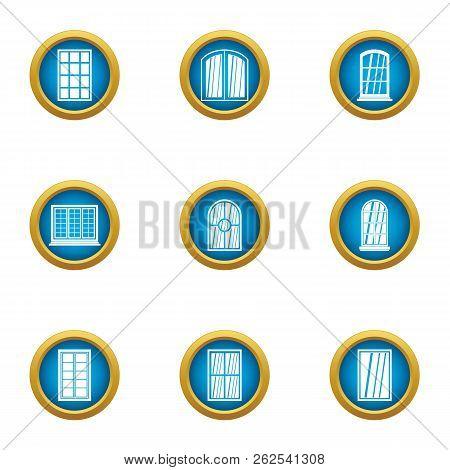 Fiberglass Icons Set. Flat Set Of 9 Fiberglass Vector Icons For Web Isolated On White Background