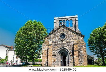 Saint Gal Church In Roffiac Village, The Cantal Department Of France