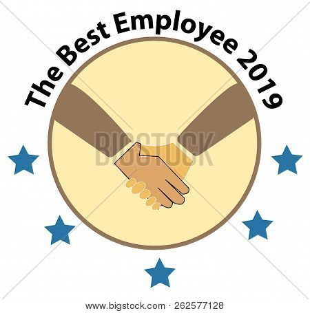 The Best Employee 2019 Logo. The Best Employee Icon On White Background.