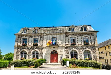 Town Hall Of Riom-es-montagnes In The Cantal Department Of France