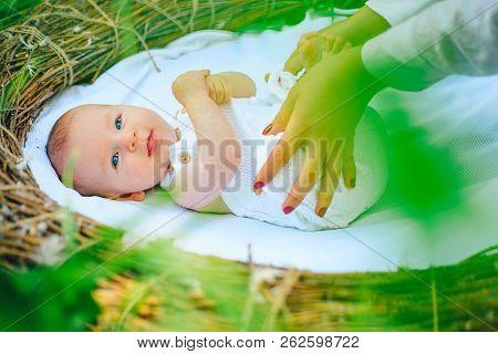 Newborn Baby Care. Newborn Baby Girl Or Boy. Intrauterine Period. Child During The Period Of Infancy