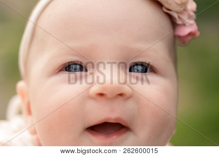 Little Baby Happy Smiling, Primary Care Pediatrician. Happy Baby Girl. Little Beauty. Developmental