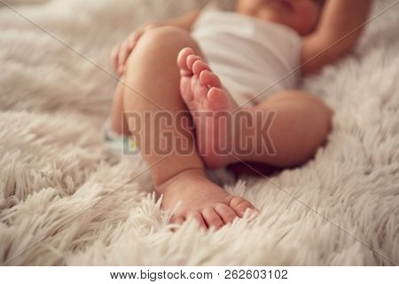 Feet Of Little Baby Boy, Newborn Baby Foot, Newborn Baby Finger,