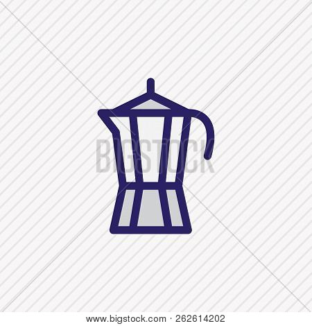 illustration of percolator icon colored line. Beautiful java element also can be used as kitchenware icon element. poster